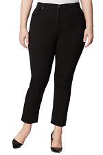 MARINA RINALDI Women's Black Raffaele High Waisted Jeans 24W / 33 $290 NWT
