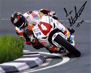 Ian Hutchinson 12 x 8 Isle of Man TT 2009 Gooseneck Signed Picture.