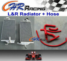 FOR Honda CR250 CR 250 R 2000 2001 aluminum radiator + red silicone Y hose