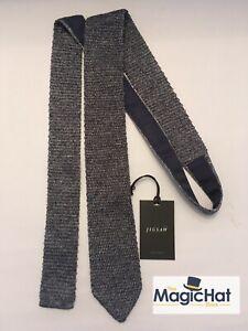Italian Silver Melange Silk Knitted Tie From Jigsaw Brand New Mod Indie 60's