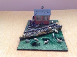 OO gauge diorama. Scratch built. The old signal box. Suit railway / Hornby