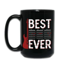 Best Dad Ever Dad Chord Guitarist Guitar Player Coffee Mug Father Day Music Gift