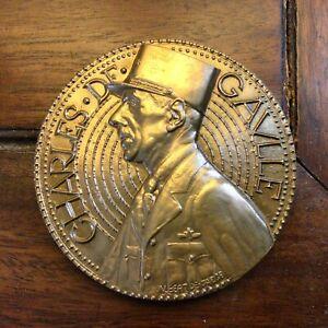Medaille GENERAL DE GAULLE  d après Albert de Jaeger bronze FDC