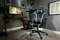 Used X Rocker Agility Faux Leather Gaming Chair - Black & Blue-GBR124.