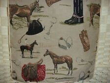 Signare tapestry horse/equestrian cushion covers x 2.