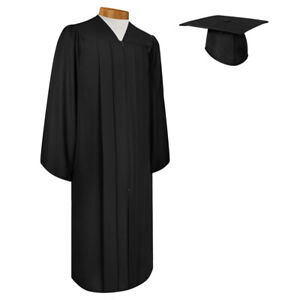 Endea Graduation  Matte Black Cap and Gown