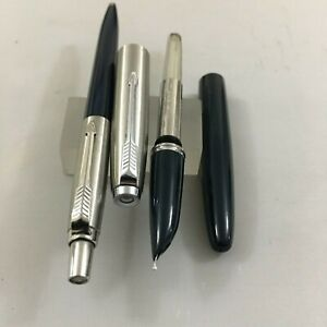 Parker 21 Steel Black Set:FP+BP Steel Fine USA NEW not used