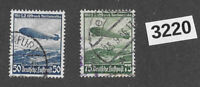 #3220    Stamp set / 1936 Germany / Third Reich / Zeppelin Hindenburg Sc C57-58