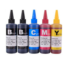 5 Pigment Refill Printer Ink Bottles kit for Dell Canon Epson HP Brother 500ml