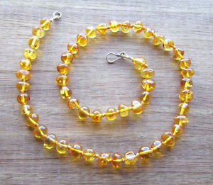 PREMIUM GOLDEN HONEY CHILD ADULT NECKLACE - BALTIC AMBER 8 to 8.5mm - FREE POST