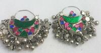 Afghan Kuchi Earrings Crescent Tribal Jewelry Bohemian Ethnic Hippie Boho Gypsy