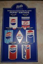 Puerto Rico Pepsi Cola Retro Cans Limited Edition  2 side plastic sing rare!