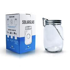 Solarglas, Solarlampe, Solar-Laterne, Gartenlampe für Balkon und Garten. 4 LEDs