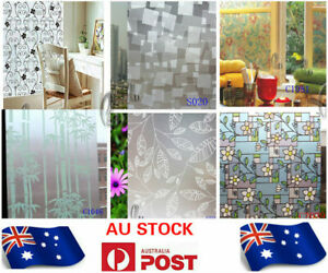 90cm x 2m Floral Privacy Frosted Frosting Removable Glass Stick Window Film