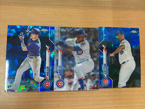 Topps 3D Motion & Chrome Sapphire Chicago Cubs x 3 Includes 2 Rookie Cards