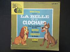 Livre Disque 45 T la belle et le clochard Walt Disney