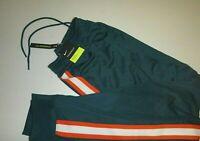 nike mens standard fit activewear track pants polyester sweatpants sz :Sm -green