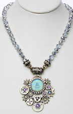 KIRKS FOLLY GEARS OF GLORY STEAMPUNK SEAVIEW MOON MAGNETIC ENHANCER NECKLACE