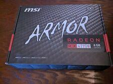 MSI Radeon RX 470 ARMOR 8GB GDDR5 OC Edition Graphics Card