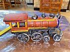 "Vtg Cast Iron Train Locomotive Steam Engine  8.5"" Long   UNB/WTRK"