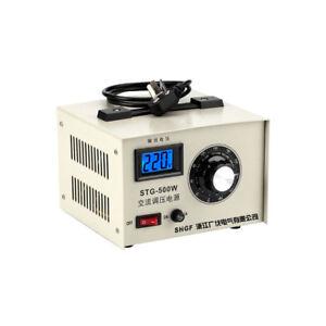 Single-phase AC Voltage Regulator Stabilizer 0-300V Adjustable Power Transformer