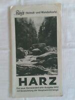 Phönix-Heimat- und Wanderkarte, Harz Ausgabe 1952 mit Bezeichnung der Wanderwege