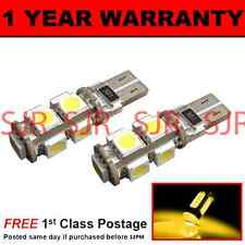 W5W T10 501 CANBUS ERROR FREE AMBER 9 LED SIDELIGHT SIDE LIGHT BULBS X2 SL101705