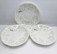 3 Lenox Butterfly Meadow Saucer Dishwasher And Microwave Safe