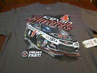 KEVIN HARVICK #4  JIMMY JOHN'S FREAKY FAST  RACING  NASCAR T SHIRT XL A2