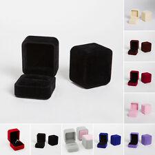 Vintage Velvet Wedding Engagement Ring Pendant Jewelry Display Box Organizer Lot