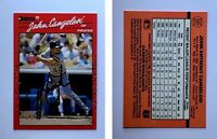 John Cangelosi Signed 1990 Donruss #565 Card Pittsburgh Pirates Auto Autograph