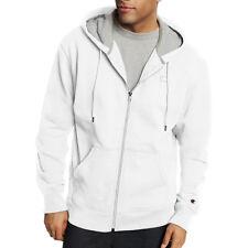 2 Champion Men s PowerBlend Fleece Full Zip Jackets S0891 L White 77999e7f5