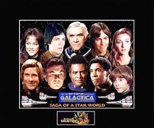 "1978 BattleStar Galactica Cast Saga Of/Star World 8""x10"" Pic-11""x14"" Blk Matted"