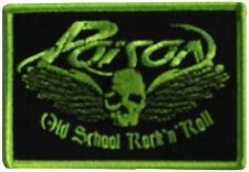 "Poison Old School Iron On Patch 4"" x 2"" Officially Licensed P-3341 Free Shipping"