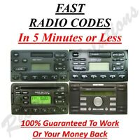Ford Radio Unlock Code M & V Serial - Fusion - Galaxy - Ka - Puma - S & C Max