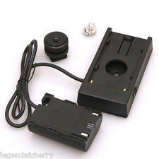 LPE6 Dummy Battery F-970 Power Supply Plate Mount Canon 5D2 5D3 7D 6D 60D B006