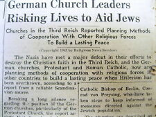 1943 Detroit Jewish newspaper HOLOCAUST Christians risk their lives to save Jews