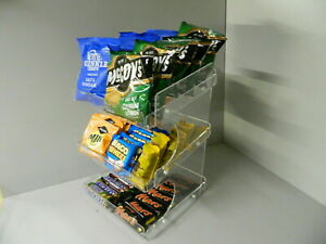 Chocolate Bar, Crisps & Confectionery 3 Tier Counter Display (impulse buys)