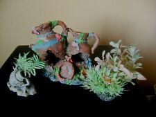 New listing 3 Fish Tank Ornaments, Large Sunken pot, plastic plants