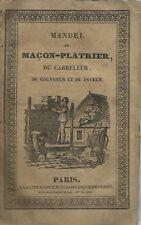 Encyclopedie-Roret - Macon-Platrier - Paris 1834 - Toussaint  Prima edizione