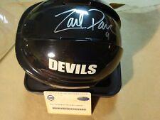 Signed ZACH PARISE Autographed New Jersey Devils Mini Helmet & Steiner COA