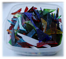 Stained Glass Offcuts  750G Mixed Colours for Mosaic making