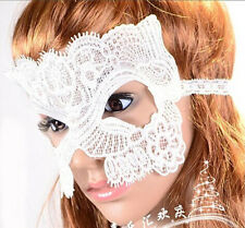 *NEW*   Sexy Catwoman white Lace Party Ball Masquerade Fancy Dress Party Mask