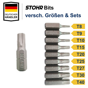 Torx Bitset Bitsatz T8, T9, T10, T15, T20, T25, T27, T30, T40 Bit Set Satz Bits