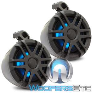 """MEMPHIS MXA62PS 6.5"""" BLACK POWERSPORTS MARINE BOAT TOWER SPEAKERS DOME TWEETERS"""
