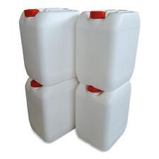 4 x 20 L Kanister orange gebraucht Plastekanister Kunststoffkanister Hahn