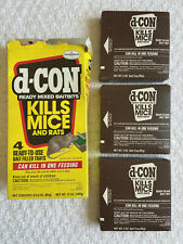 D-CON Ready Mix Rats Mice Poison Open Box 3 Unused Tray Discontinued Brodifacoum