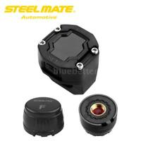 Steelmate Motorcycle Tire Pressure Monitoring System Wireless LCD TPMS 2 Sensors