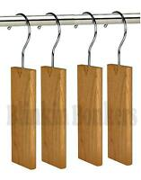 4 NATURAL CEDAR WOOD FRESH CLOTHES ANTI MOTH DETERRENT REPELLENT WARDROBE HANGER