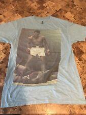 Muhammad Ali Brand Muhammad Ali Sonny Liston Blue T-Shirt Men's Size Medium